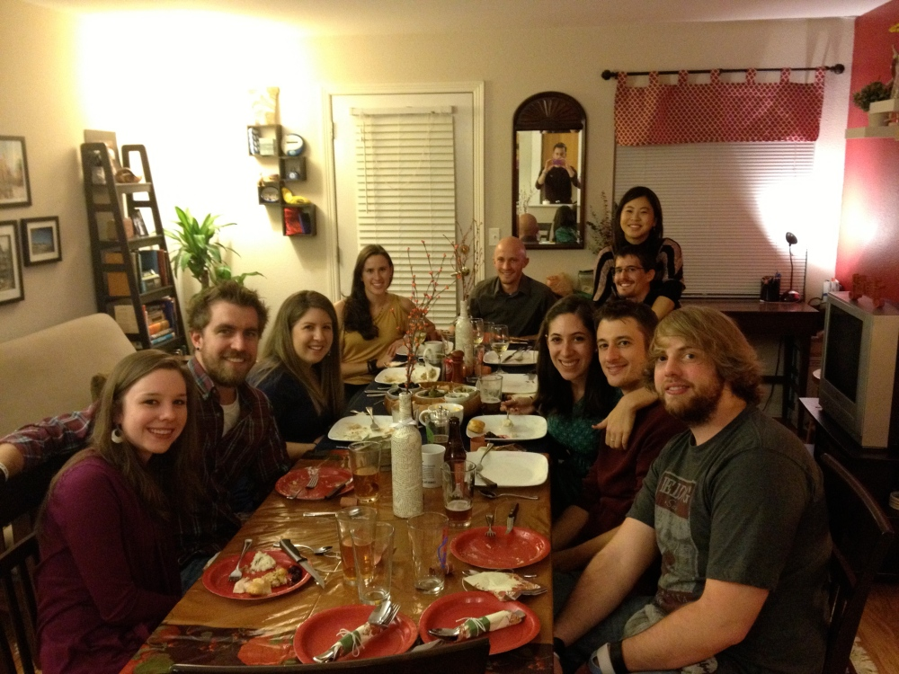 Nov: Hosted FriendsGiving (and cooked my first turkey!)