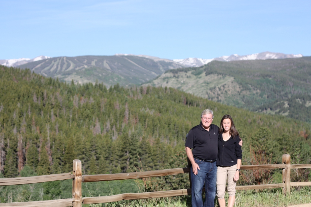 June: one of Dad's visits to Colorado!