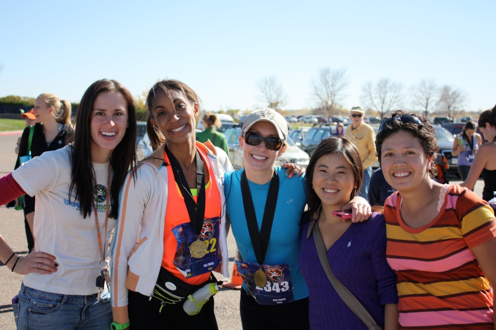 Oct: Cheering on friends at the Boulder Trail Marathon