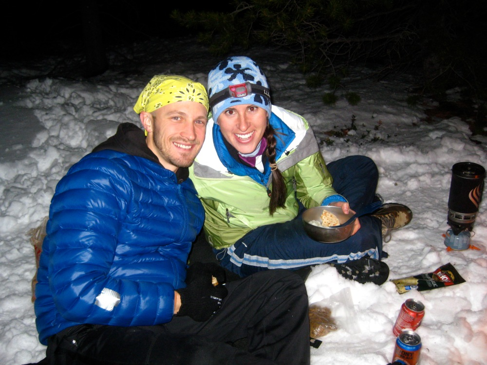 Efo and Weez_snow backpacking trip 4