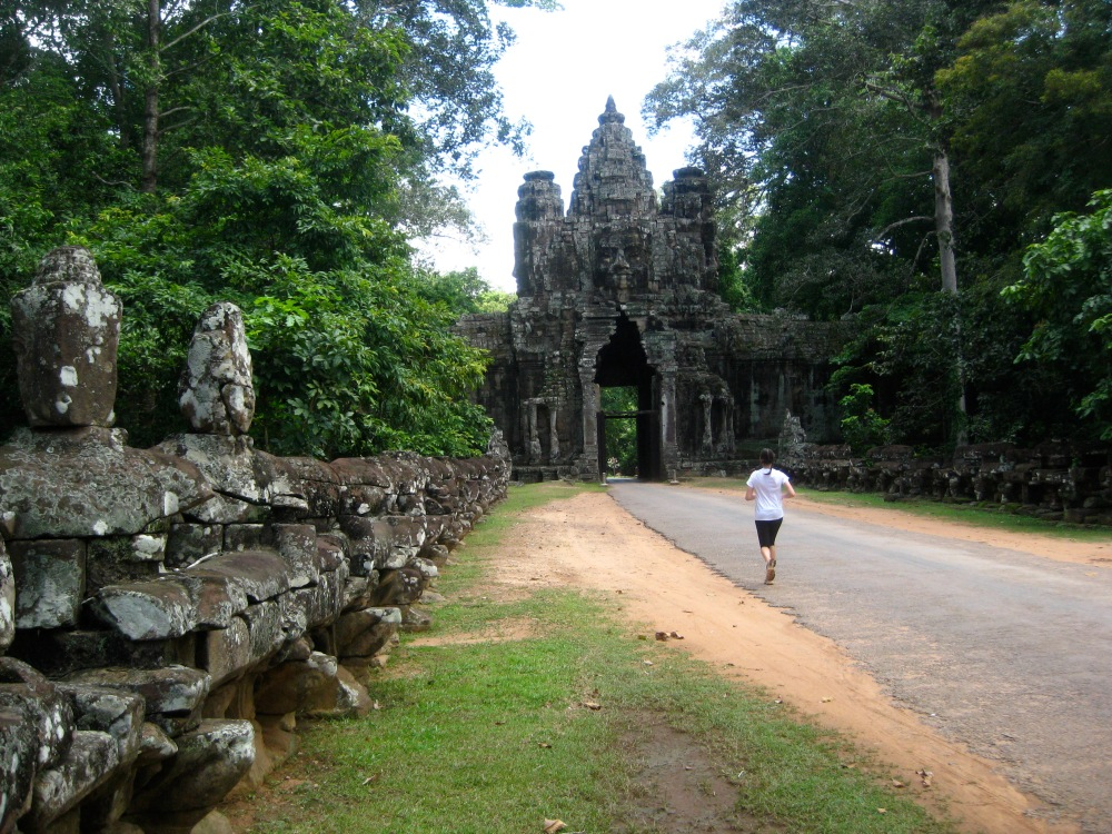 Running in Siem Reap