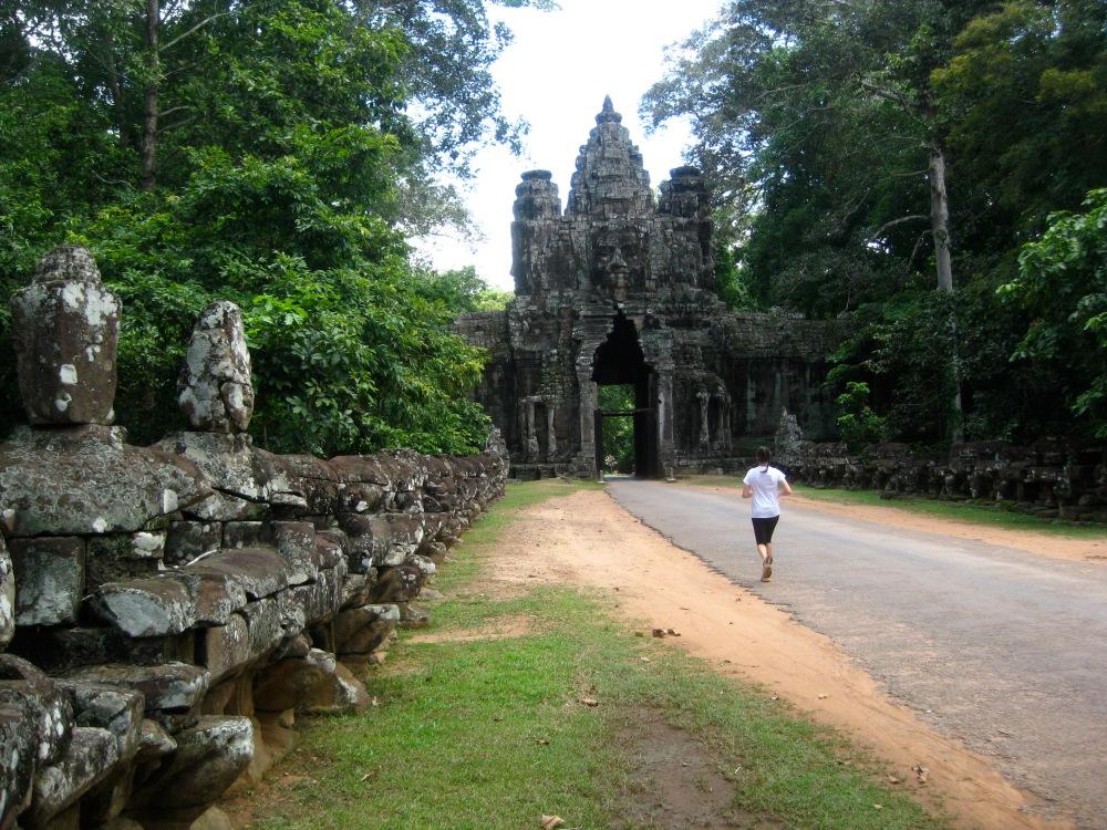 Running in Siem Reap